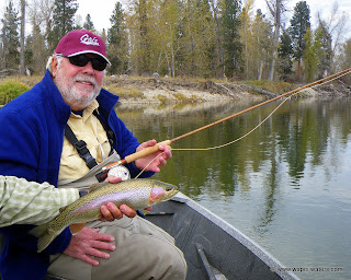Fly Fishing the Bitterroot with Bob and Peggy and Bob's bamboo rod