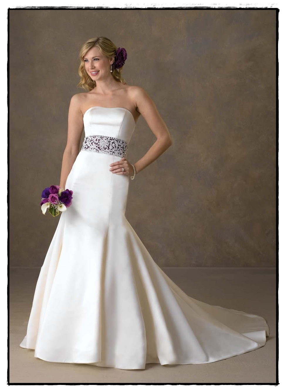 Wedding Gowns With Color Sash Mother Of The Bride Dresses