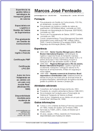 Curriculum Vitae Ejemplos Mexico