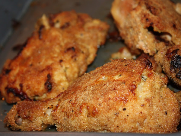 Oven fried chicken with spices