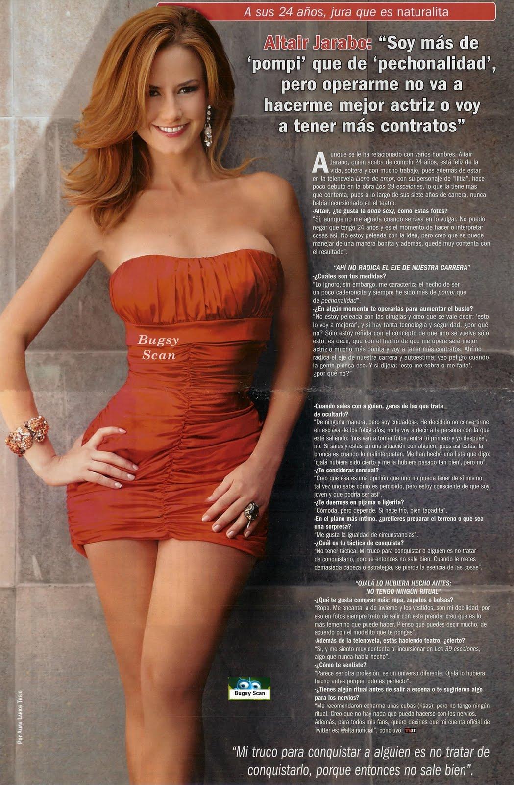 Altair Jarabo Revista H world fashion 2011: actress altair jarabo tvnotas magazine