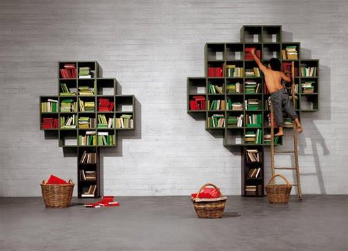 Daniele lago 39 s bookshelf tree for Daniele lago