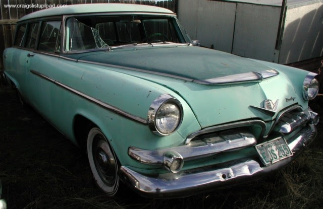 Parked Cars Revisited 1966 Chrysler Newport 4 Door: American-find: 1955 Dodge Suburban Wagon 2dr