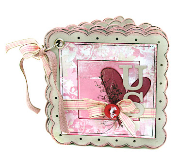 CardoftheWeek.com featured mini scrapbook by Kelly Goree from Behind the Pages
