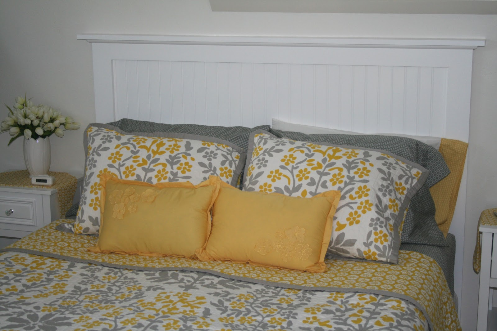 Our Nest Of 3 The Beadboard Headboard My Husband Made