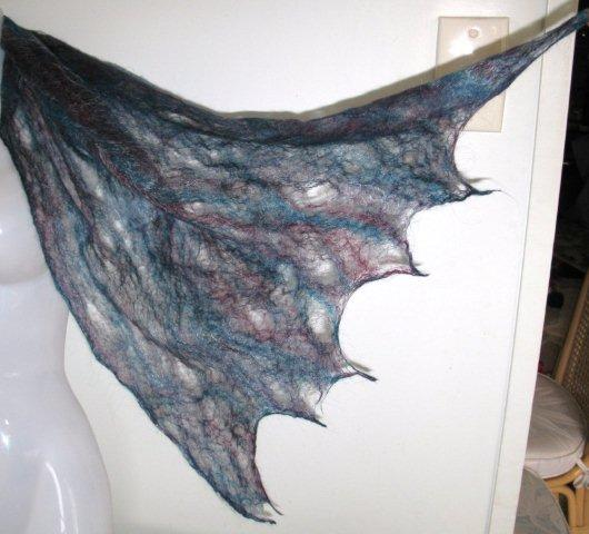 Silk Scarves Gumtree: KIRTON KREATIONS: Felted Cobweb Shawl