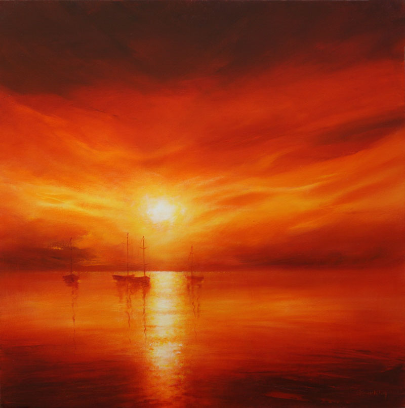 Seascape & Sunset Paintings by Stella Dunkley