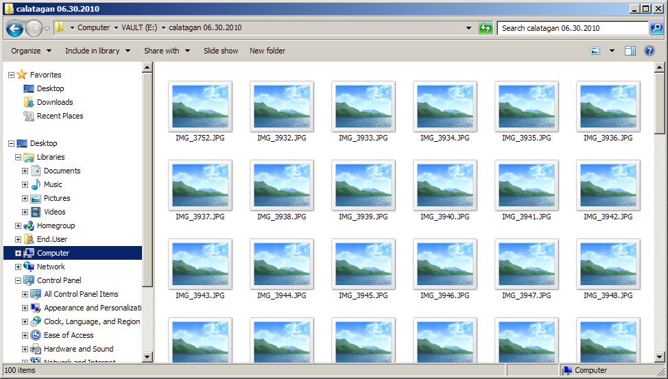 TWEAK: Thumbnail View Showing Icons in Windows 7 ~ pimp-my ...