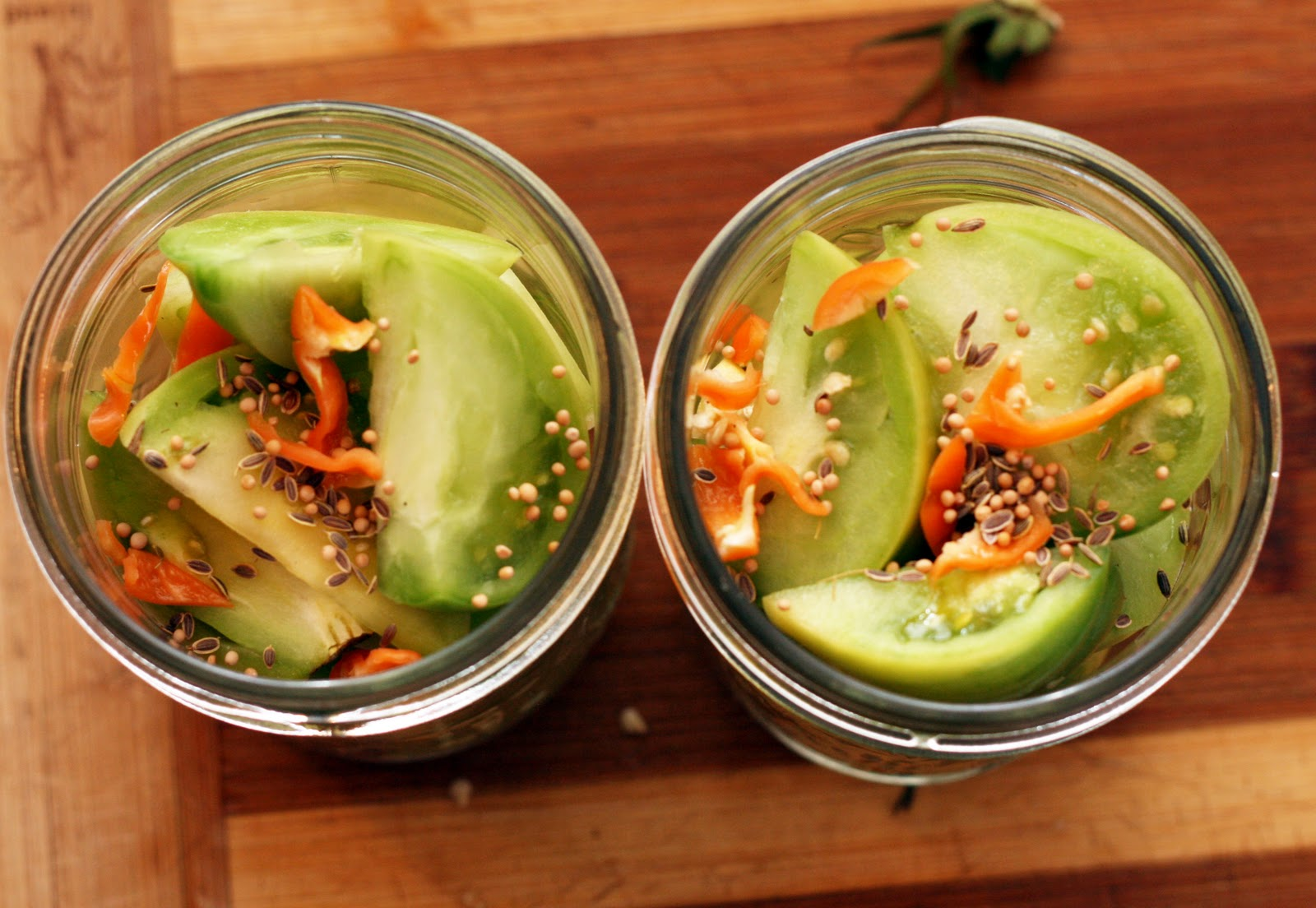Recipes by Rachel Rappaport: Hot Pickled Green Tomatoes