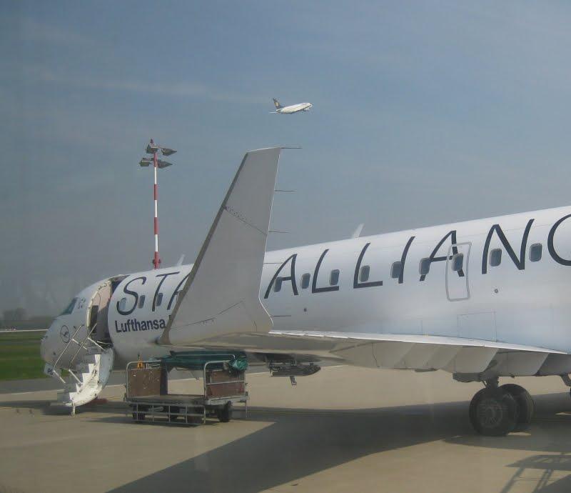 Lufthansa-Maschine in Düsseldorf, Flug nach Stockholm