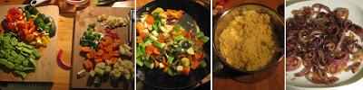 Zubereitung Couscous mit Lamm und karamellisierten Zwiebeln