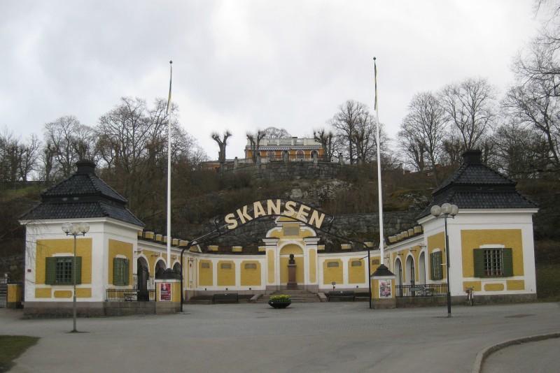 Stockholm: Skansen Eingang