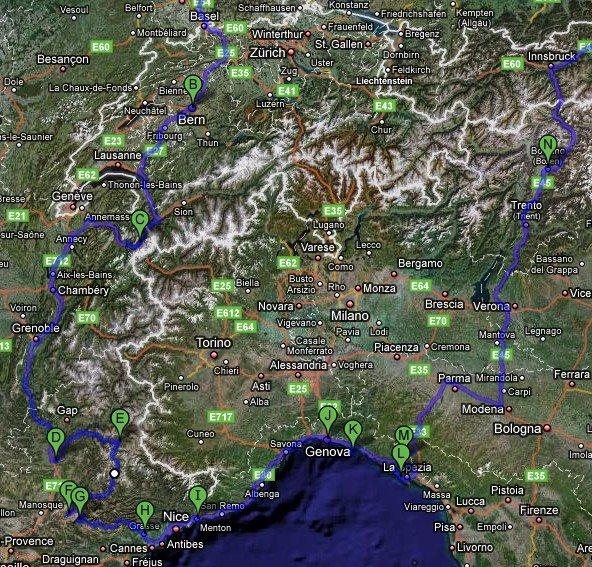 Rundfahrt 9 Tage westliche Alpen