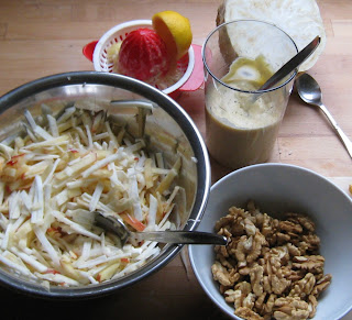 Zubereitung Waldorfsalat
