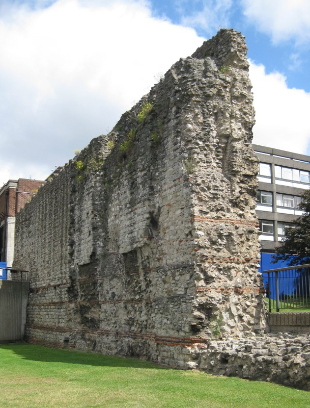 Reste der römischen Stadtmauer, London - nahe Tower