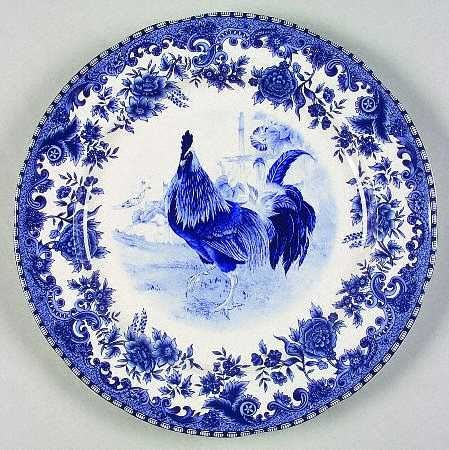The Rustic Victorian Collecting Blue Rooster China Pattern
