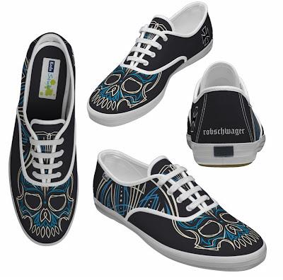 Black Kustom Shoes