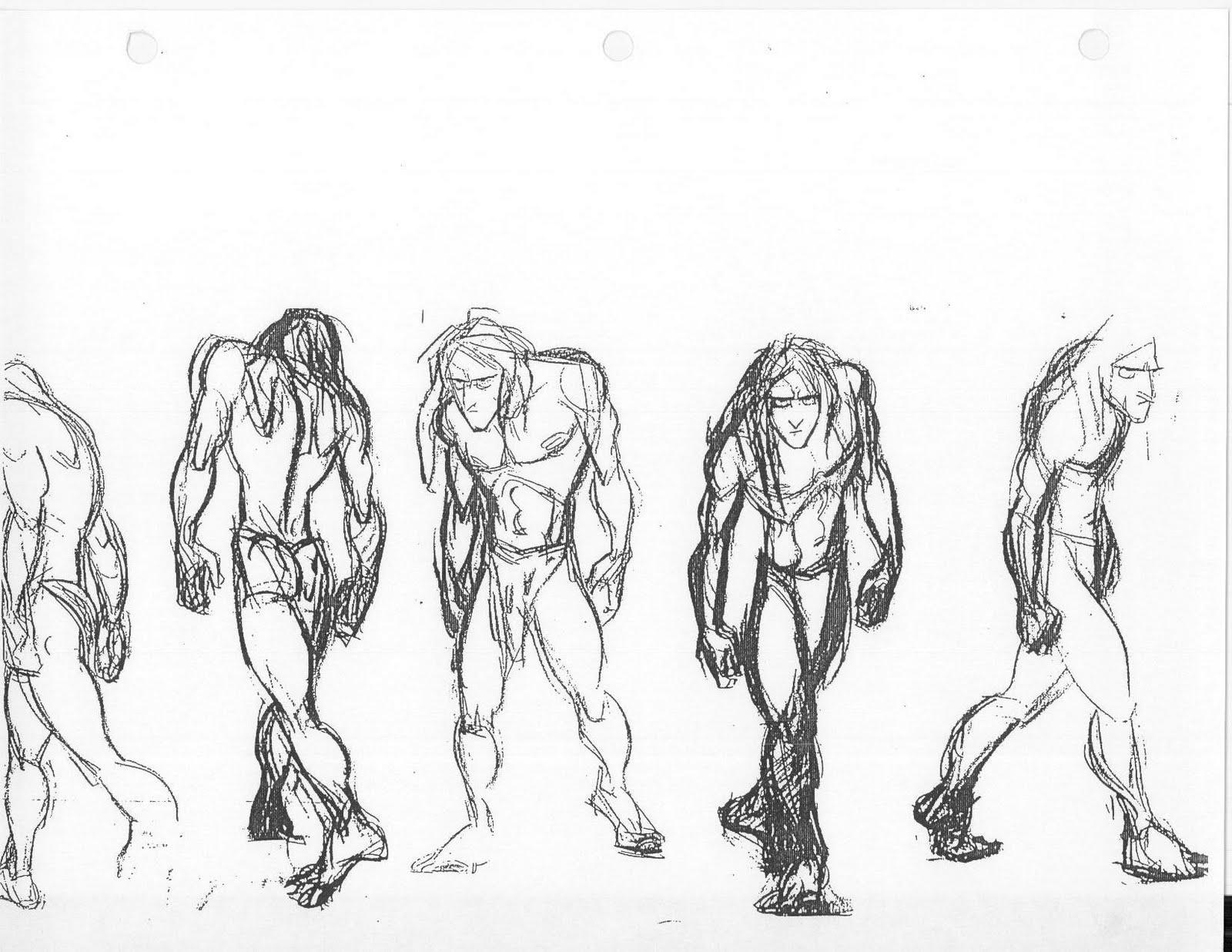Glenn Keane 2c Tarzan Ruff Turnaround 2c Pencil