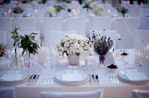 Simple Wedding Table Settings