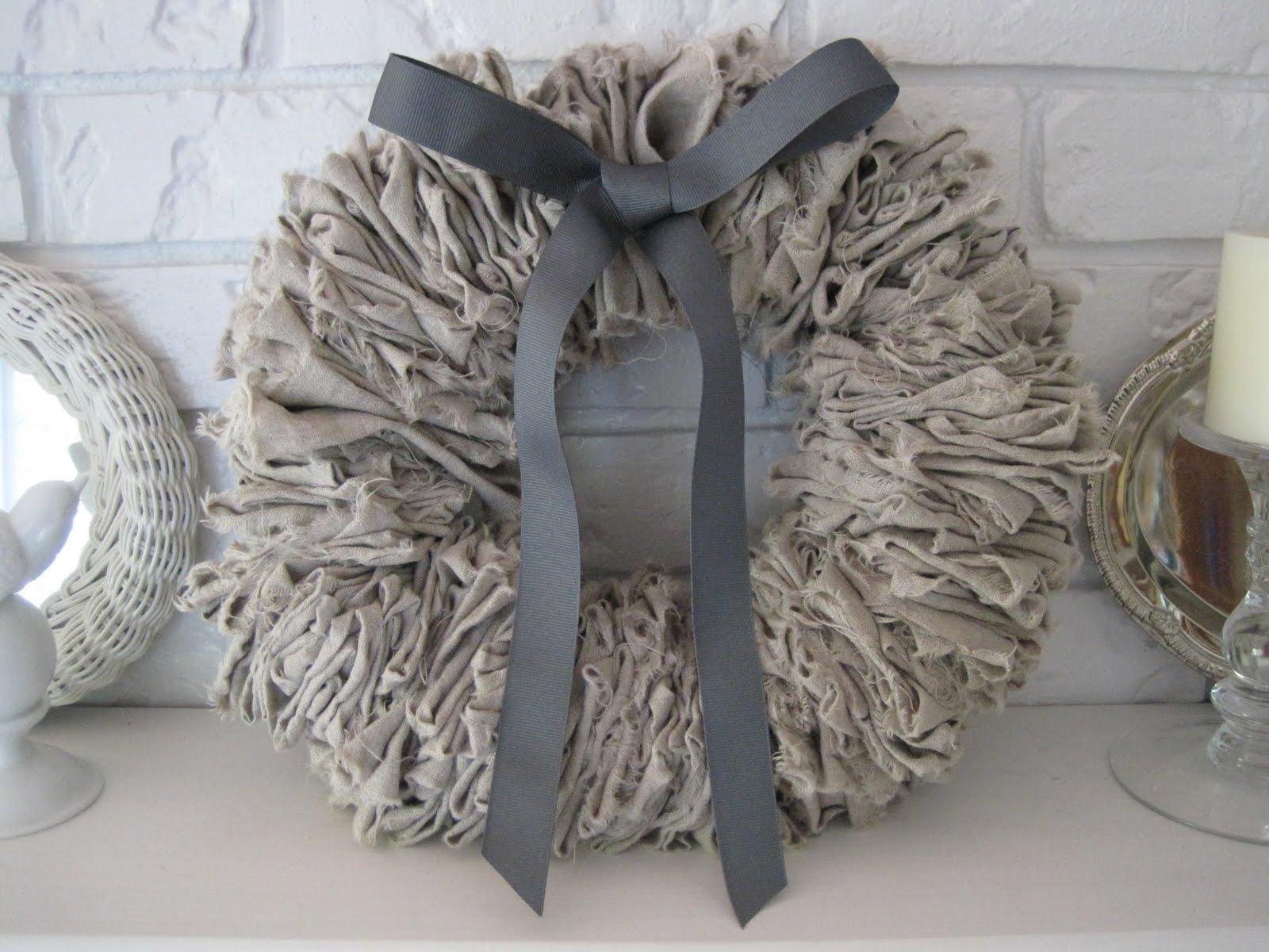 Beautiful Nest More Linen Love A Linen Wreath
