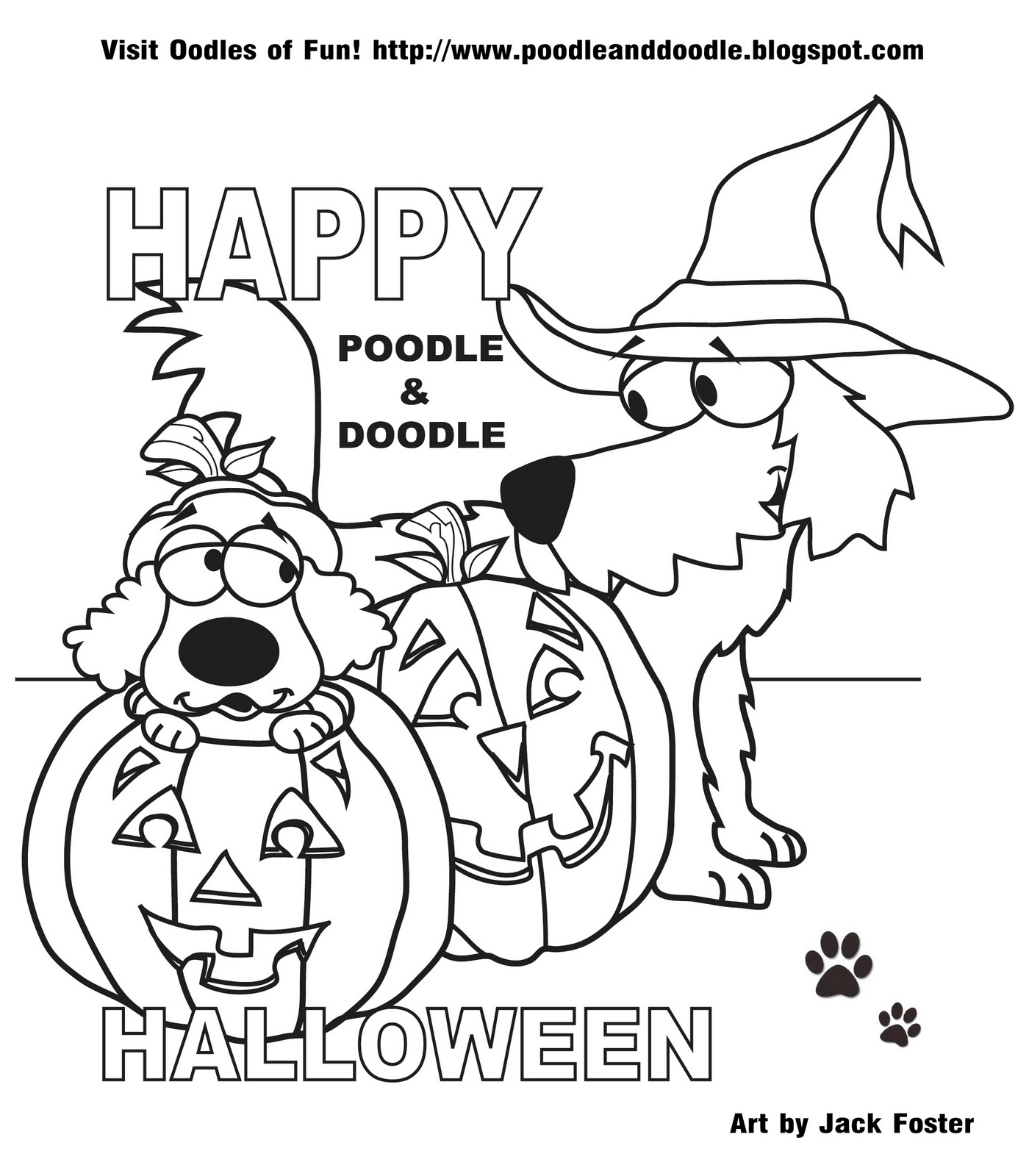 Topsy Tales by Donna J. Shepherd: Coloring Page: Trick or
