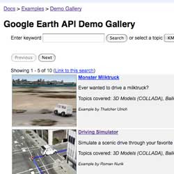 Earth API Demo Gallery Screenshot