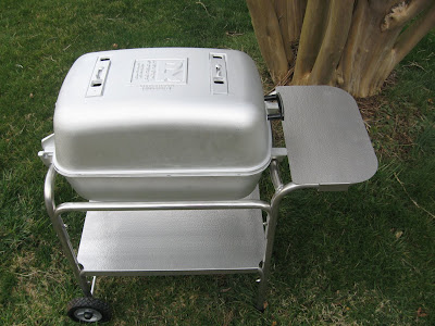 Barbecue Master Grilled Dinner On The Portable Kitchen