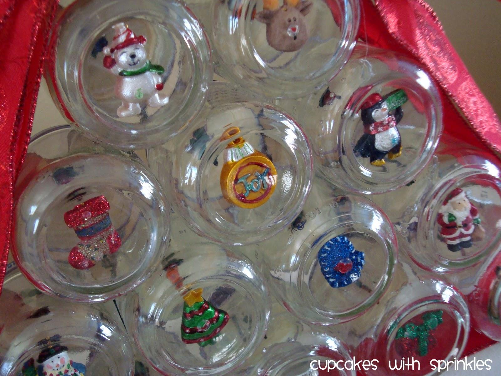 Cupcake With Sprinkles Baby Food Jar Christmas Tree