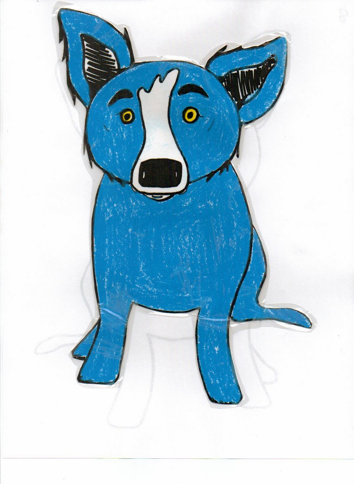 Blue To Green Flakie Gradient: Blue Dog Fun : How To Draw Blue Dog