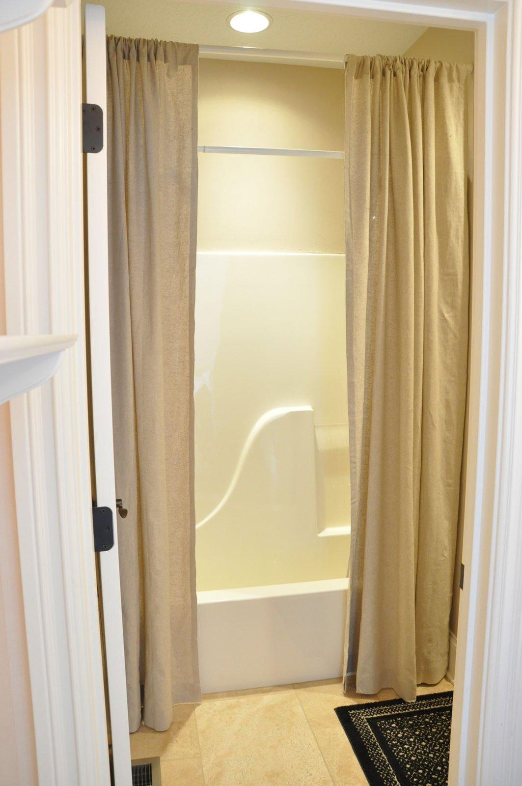 Wonderful Extra Long Cloth Shower Curtain