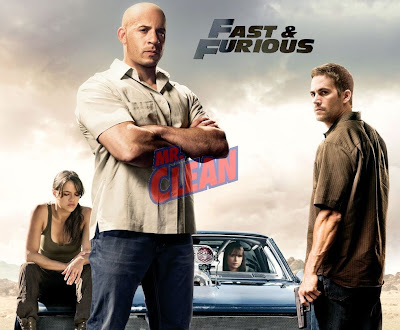 Vin Diesel as Mr. Clean in Fast and Furious 4