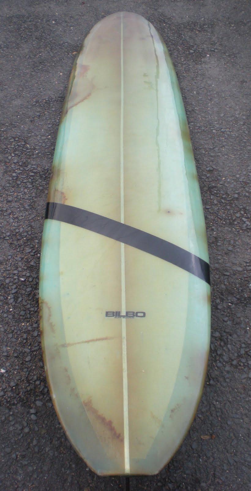 Vintage Surfboard Collector Uk Bilbo Longboard Made By
