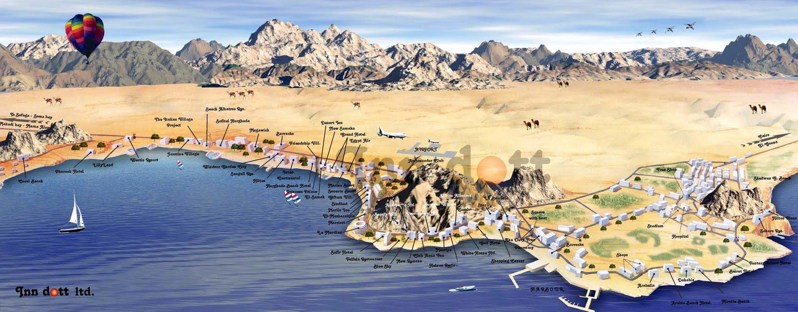 Hotels Agypten Hurghada Karte Goudenelftal