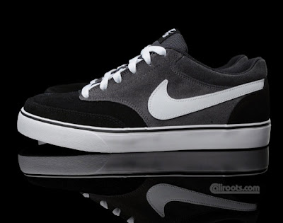 "9d91497fb9db8b This colorway is predominantly suede black and ""Raiders Grey"" upper. White  accents on the shoe laces"