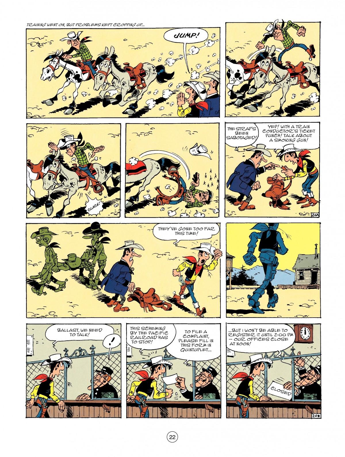 Read online A Lucky Luke Adventure comic -  Issue #46 - 22