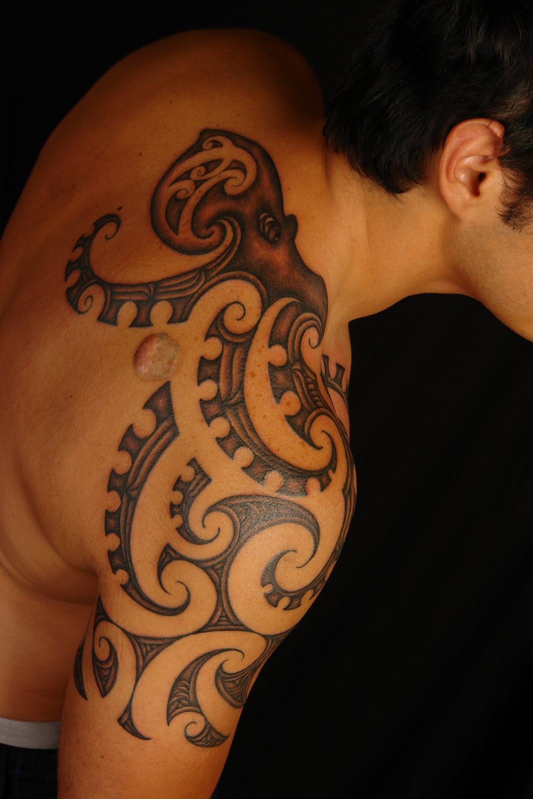 Tribal Octopus Tattoo Design