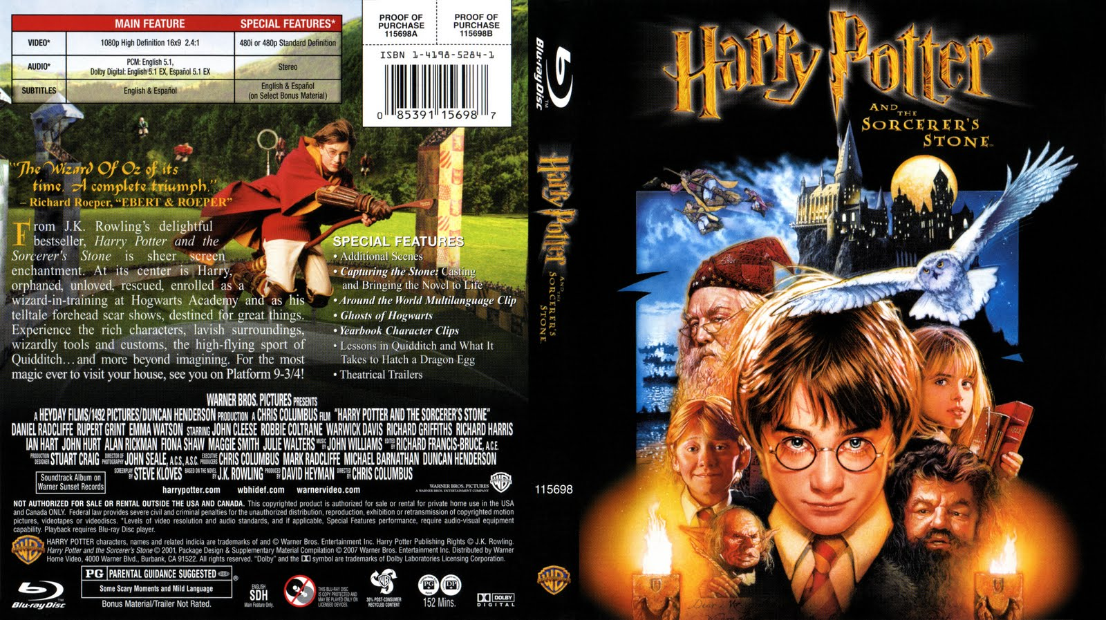 blu ray cover collection harry potter collection blu ray