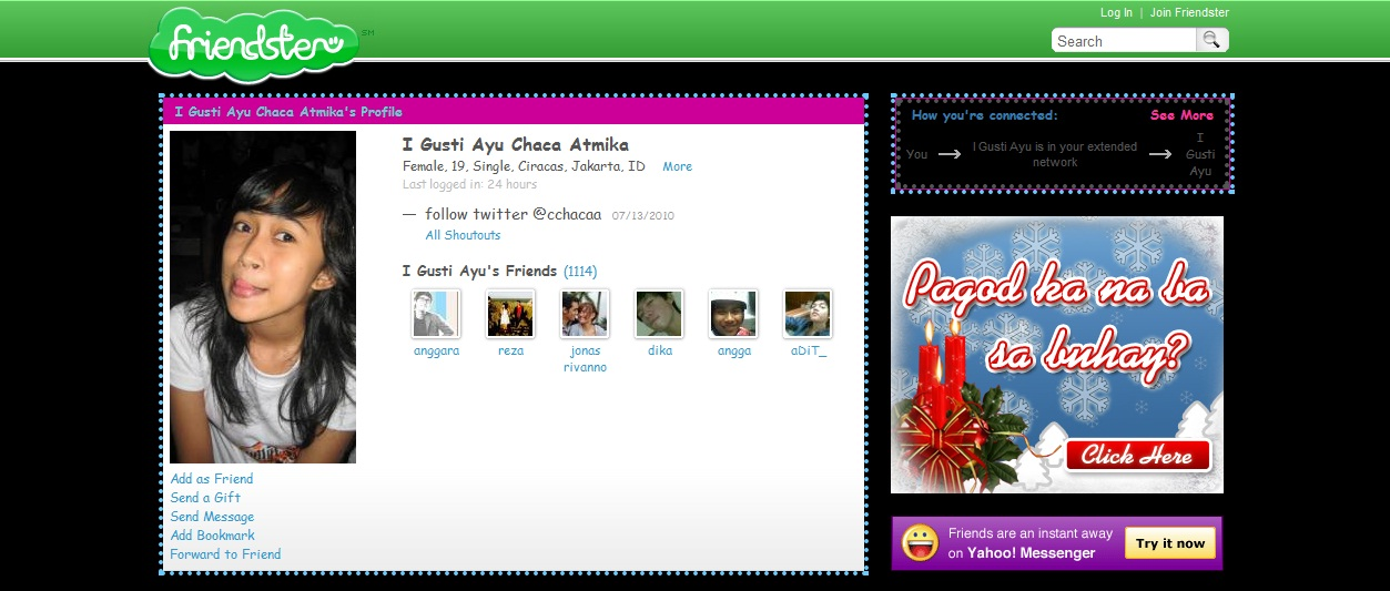 Friendster Account