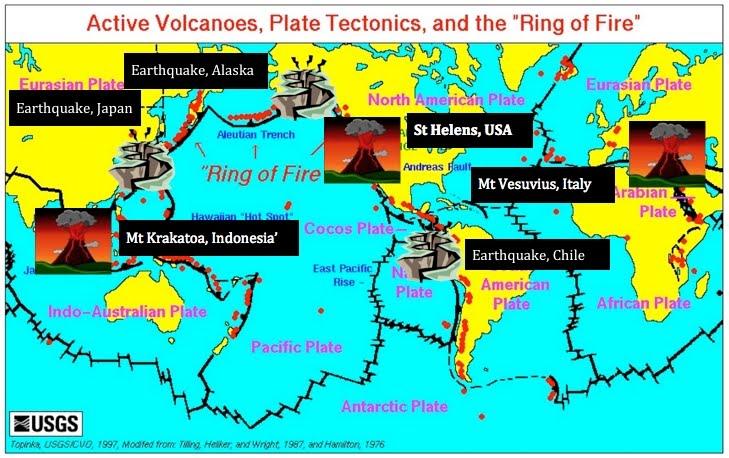 Map world earthquakes map volcanoes earthquakes gumiabroncs Choice Image