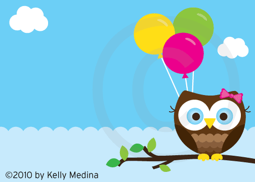 Property of Kelly: New Owl Birthday Card