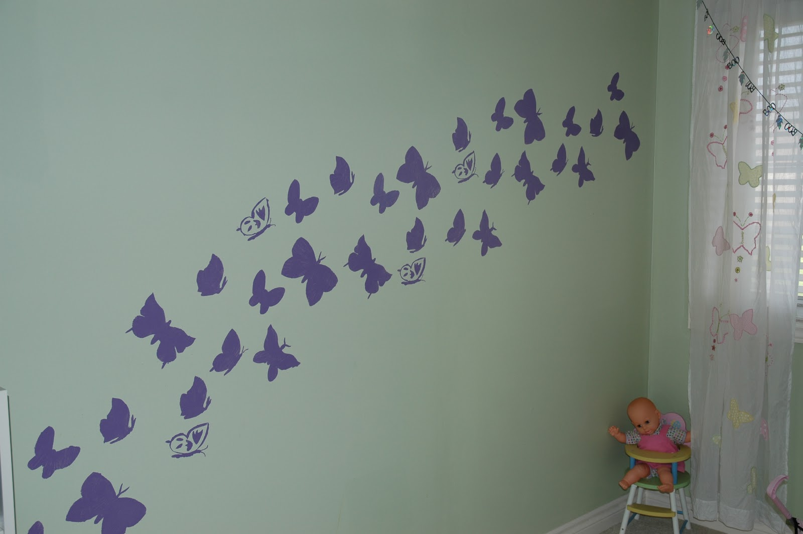 Urban Stone Oasis: Olivia's Butterfly Wall Mural