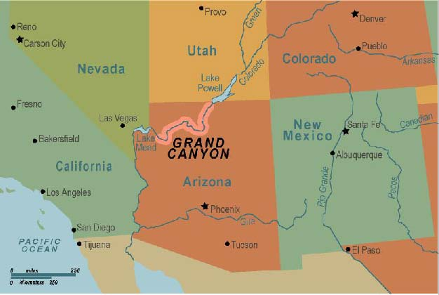 Life is beautiful...: A day at Grand Canyon Map From Phoenix To Grand Canyon on us map showing grand canyon, map from phoenix to death valley, map of grand canyon and surrounding cities,