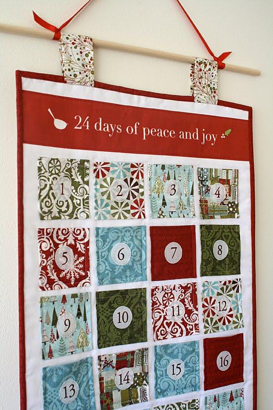 Advent Calendar Wall Hanging A Tutorial Freshly Pieced