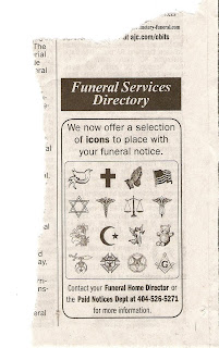 The Burning Taper: Newspaper offers Masonic symbols on death