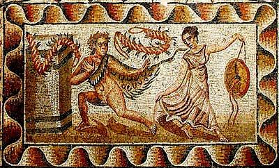 Villa Tellaro Romana Mosaici Il Corpo Di Ettore