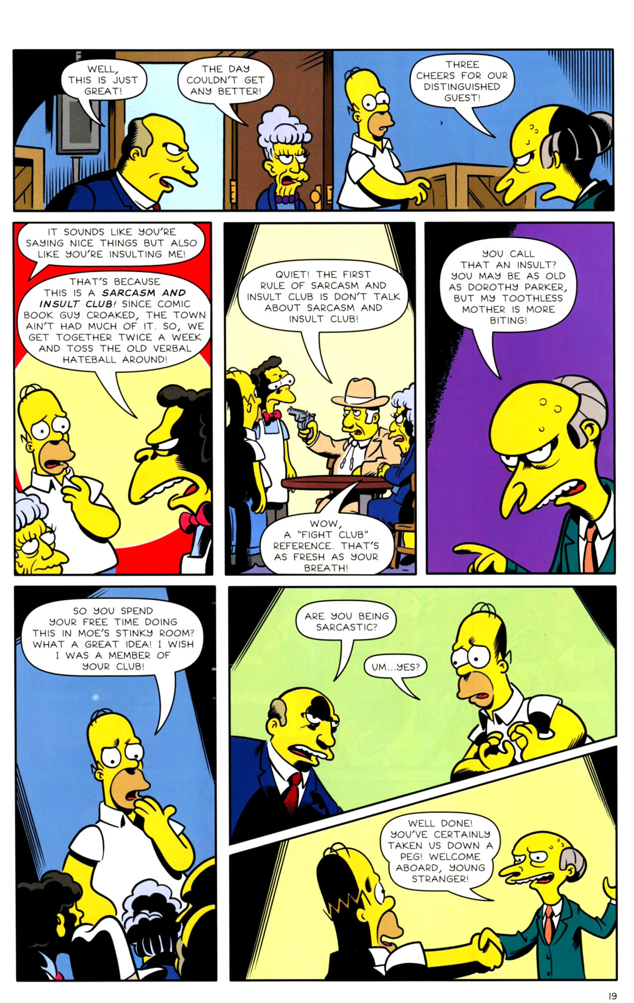 Read online Bongo Comics presents Comic Book Guy: The Comic Book comic -  Issue #4 - 21