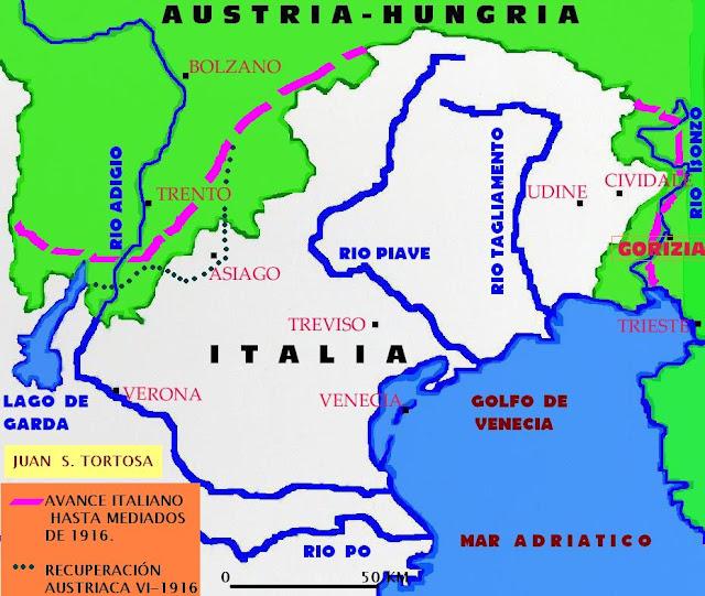 Resultado de imagen de batallas del isonzo primera guerra mundial