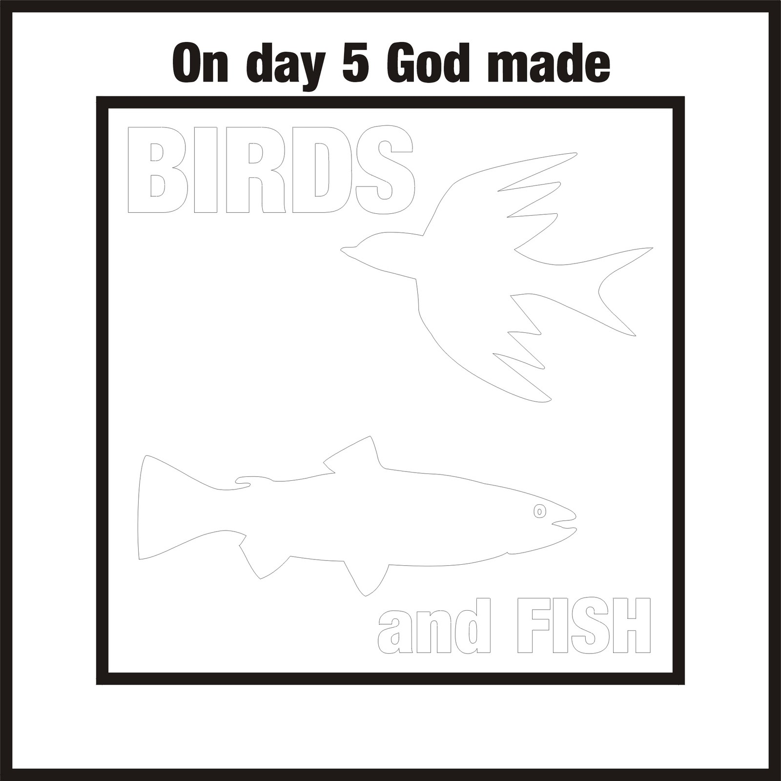 Artful Parenting: Days of Creation colouring pages