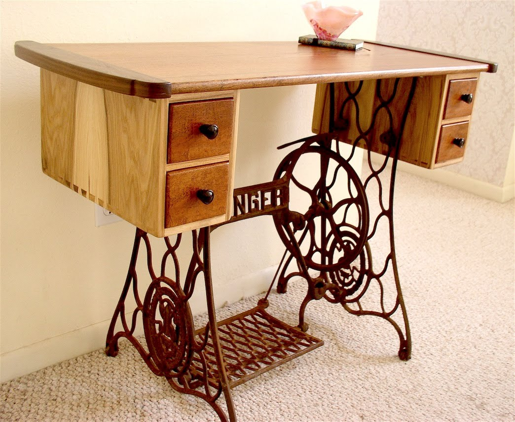 first a dream vintage sewing machine makeovers. Black Bedroom Furniture Sets. Home Design Ideas