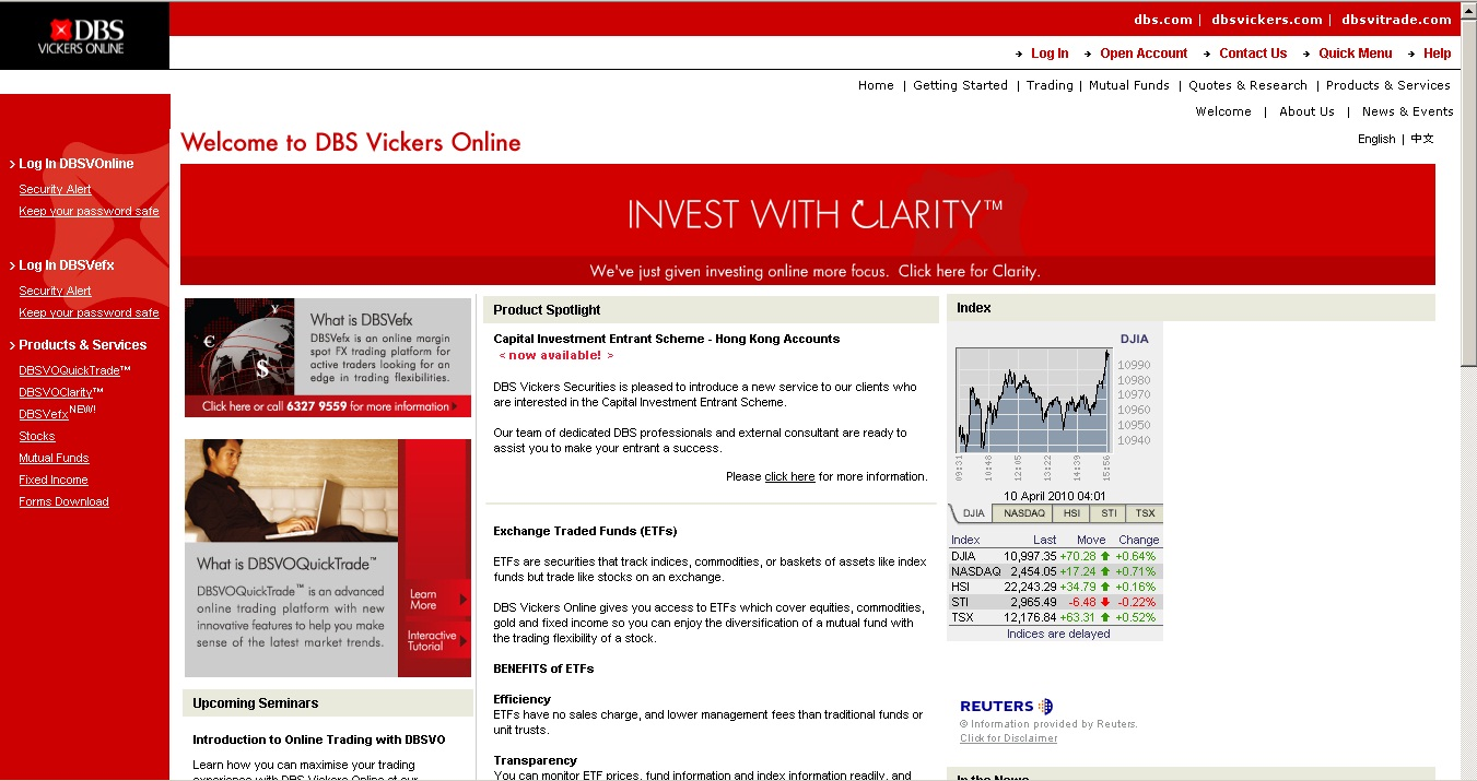 Dbs vickers options trading